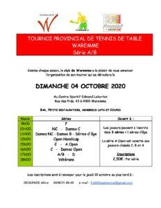 "Tournoi de WAREMME ""A/B"""